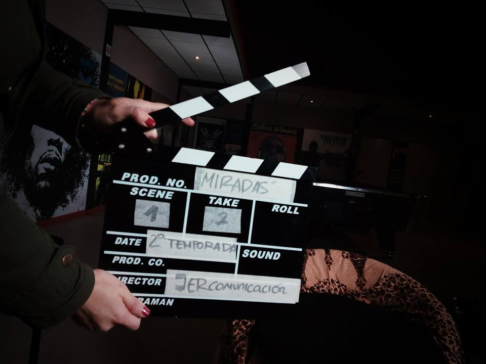 Grabación en plató de la 2ª temporada Miradas, entrevistas con más que palabras